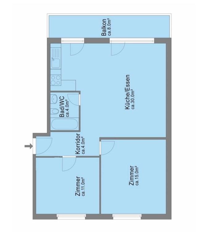 3.5 Zimmer-Eigentumswohnung, Nahe Stadtzentrum